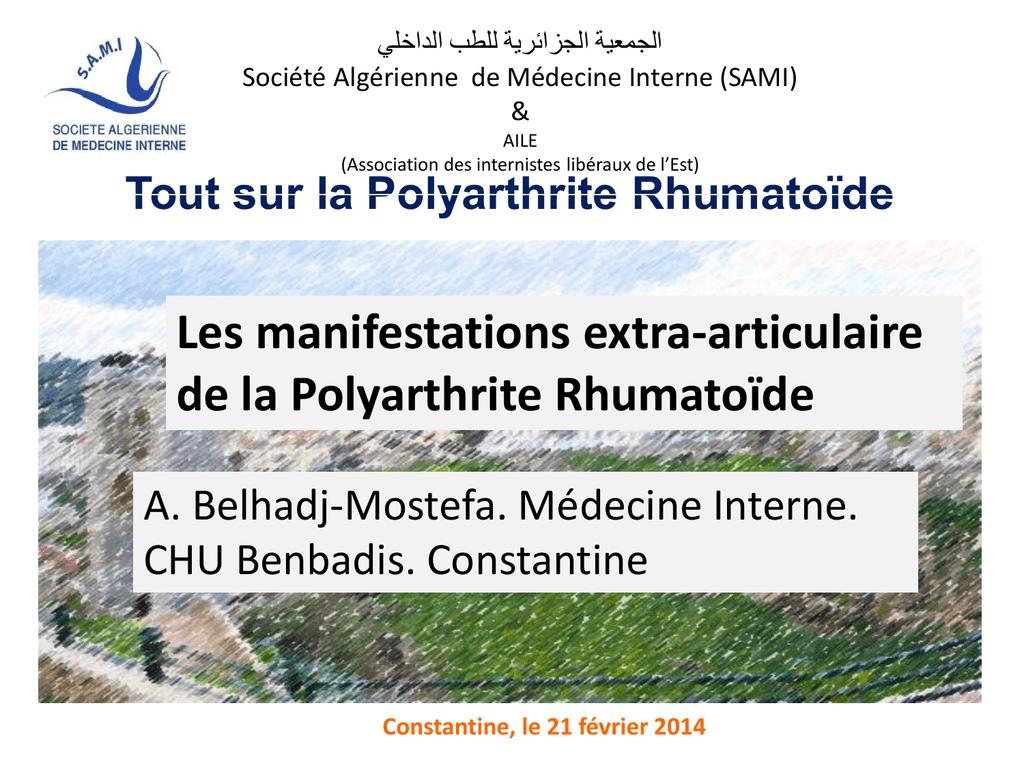 Les manifestations extra-articulaires de la polyarthrite ...
