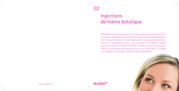 02 Injections de toxine botulique