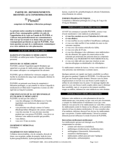 Renseignements destinés aux patients