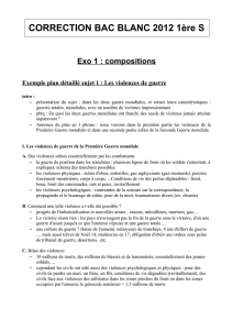 CORRECTION BAC BLANC 2012 1ère S - lyc