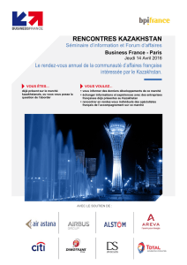 rencontres kazakhstan - Export Business France