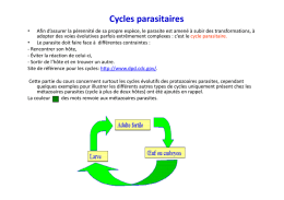 Cycles parasitaires