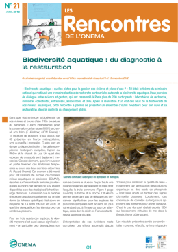 Biodiversité aquatique : du diagnostic à la restauration