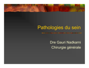 Pathologies du sein