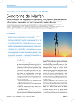 Syndrome de Marfan - Swiss Medical Forum