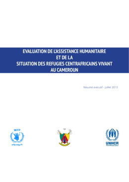 evaluation de l`assistance humanitaire et de la situation des refugies