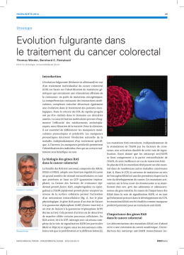 Evolution fulgurante dans le traitement du cancer colorectal