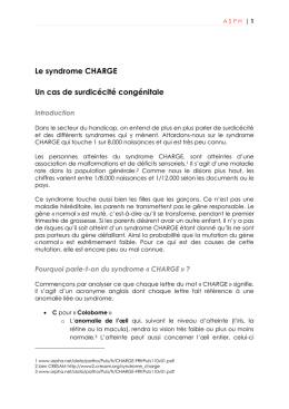 Le syndrôme CHARGE