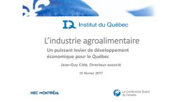 L`industrie agroalimentaire
