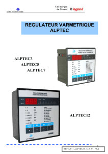 regulateur varmetrique