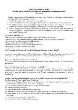 Notice : information du patient Fluorouracil Accord