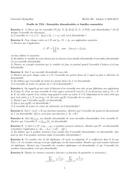 Université Montpellier HLMA 302 - Analyse 3 (2016