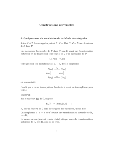 Constructions universelles - IMJ-PRG