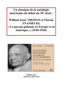 William Isaac THOMAS et Florian ZNANIECKI - prepa-bl