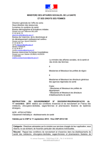 Instruction du Gouvernement AFSH1427089J n° DGOS/RH1/RH2
