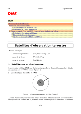 Satellites d observation terrestre