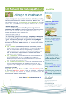 Allergie et intolérance - Naturopathe Courbevoie