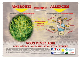 "Fiche d`information générale ""Ambroisie : attention allergies !"""