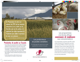 assurance et confiance - Chicken Farmers of Canada