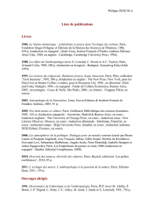 DESCOLA - Liste de publications - las