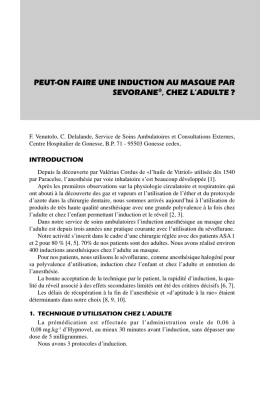 peut-on faire une induction au masque par sevorane®' chez l`adulte