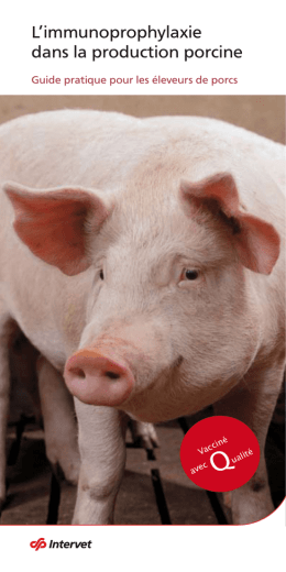 L`immunprophylaxie dans la production porcine