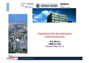 MODULE 5 - Cardi... - Ecole des Sciences du Cancer