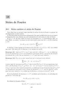 18 Séries de Fourier