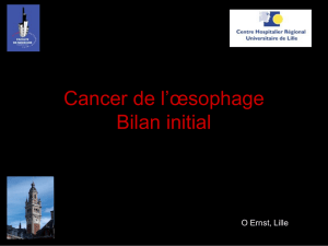 Cancers de l`oesophage