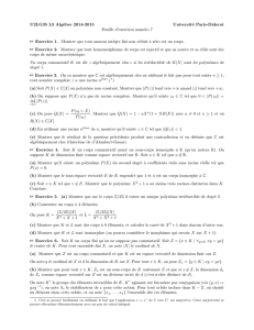 Feuille 7 (+ solutions)