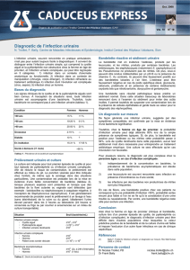 Diagnostic de l`infection urinaire