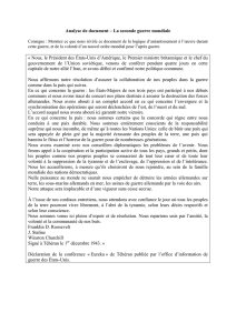Analyse de document ‒ La seconde guerre mondiale « Nous, le