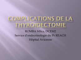 complications de la thyroidectomie