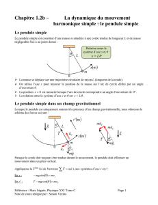 Exercice II. Pendule de Foucault (5,5 points) Correction