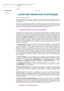 Lupus-LED - Symptômes, diagnostic, examens, traitements