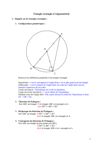 Triangle rectangle et trigonométrie