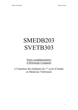 SMEDB203 SVETB303 Notes complementaires d
