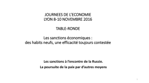 Les sanctions à l`encontre de la Russie. La poursuite de la paix par