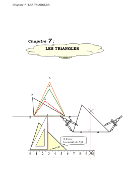 LES TRiANGLES - Académie de Nancy-Metz