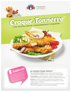 Croque-Tonnerre MC - Olymel Solutions Service Alimentaire