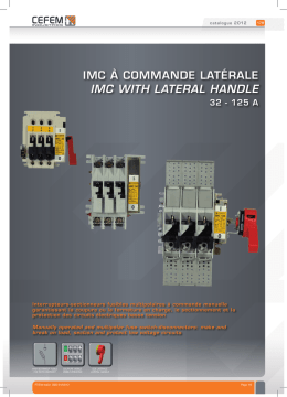 imc à commande latérale iMC with latEral handlE