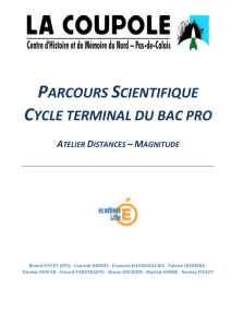 parcours scientifique cycle terminal du bac pro atelier distances