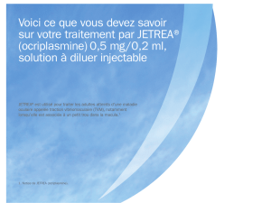 Brochure d`information JETREA destinée aux patients