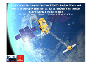 Assimilation des données satellites SWOT ( Surface Water and