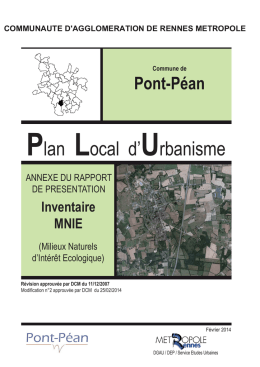Plan Local d`Urbanisme - Pont-Péan
