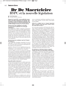 Mise en page 1 - Belgian Society for Private Clinics