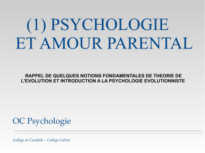 (1) PSYCHOLOGIE ET AMOUR PARENTAL