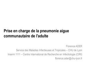 Prise en charge de la pneumonie aigue