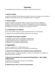 Génétique 5. Application :