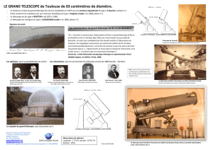 LE GRAND TELESCOPE de Toulouse de 83